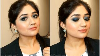 Blue Smoky Eyes with Nude Lips - Makeup Tutorial | corallista