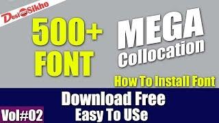 500+ Cool Fonts Collocation Download Free Vol#2 [desimesikho] 2018