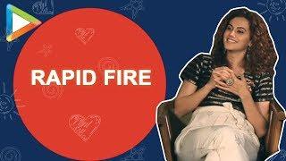 "Taapsee Pannu: ""I will gift Kangana Ranaut DOUBLE-FILTER"" | Rapid Fire | Manmarziyaan"