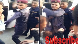 Nepali girls bus fight+cops knuckle when its enough(2 drunk vs 1)