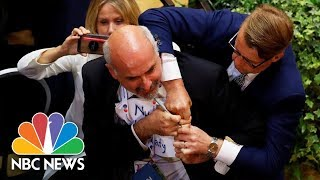 Journalist Forcibly Removed From Trump-Putin Press Conference Room | NBC News