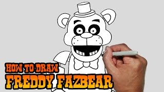 How to Draw Freddy Fazbear- Five Nights at Freddy's- Video Lesson