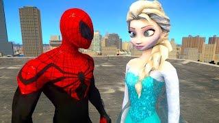 Spiderman vs Elsa The Snow Queen - Frozen