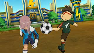 Inazuma Eleven GO Strikers 2013 Light emperors vs Hacked 11 Wii
