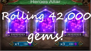 Clash of desert - Rolling 42,000 gems! / Insane luck!!!!!!