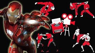 Captain America Civil War Airport Fight Scene Breakdown -  Iron Man Scenes