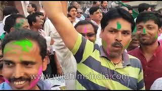Indian politicians celebrate Mahagathbandhan of Congress, SP and BSP | 14 Mar 2018