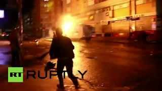 RAW: Protesters throw petrol bombs at water cannons, clash with police after Ankara blasts