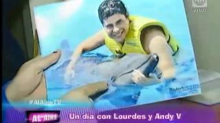 Mira cómo es un día con Andy V y Lourdes Sacín