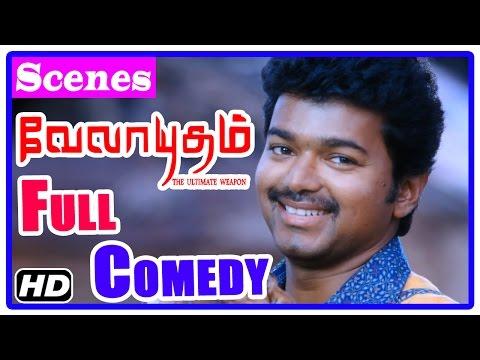 Velayudham Tamil Movie   Full Comedy   Scenes   Vijay   Santhanam   Soori