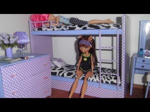 Como fazer beliche treliche para boneca Monster High Barbie e etc