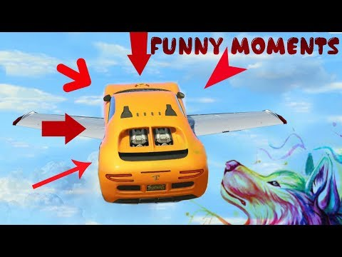Gta 5 epic flying cars - funny moments