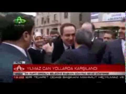Belediye Başkanı Kerim Aksu, AKP adayı Yılmaz Can'ı Karşıladı.