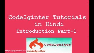php Codeigniter in Hindi  Part 1