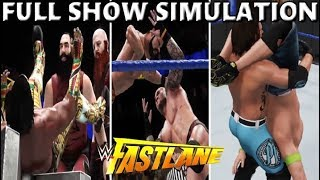 WWE 2K18 SIMULATION: FASTLANE 2018 FULL SHOW HIGHLIGHTS