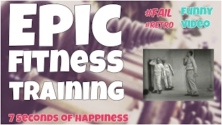 21 seconds of epic fitness training bw★ 7 second of happiness Retro FUNNY Video 😂#347