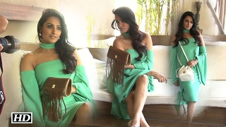 Stylish Anita Hassanandani with her collection 'The Bag Talk'