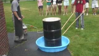 55 gallon steel drum can crush