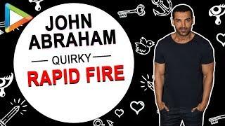 "John Abraham: ""I have a CRUSH on…"" | RAPID FIRE | Narendra Modi | Arvind Kejriwal | Mano | Aisha"