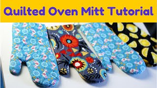 How to Make an Oven Mitt- FREE pattern & Tutorial