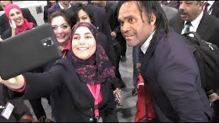 EGYPT || FIFA World Cup trophy visits Cairo with Christian Karembeu