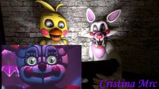[sfm fnaf] Toy Chica si Mangle reactioneaza la FNAF Sister Location Trailer 1