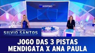 Jogo das 3 Pistas com Mendigata e Ana Paula   Programa Silvio Santos (27/08/17)