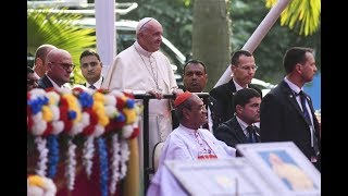 Pope Francis at Notre Dame College in Dhaka, Bangladesh
