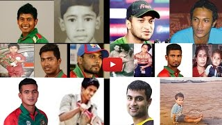 top 10 Bangladesh Cricket players childwhood pictures (male)