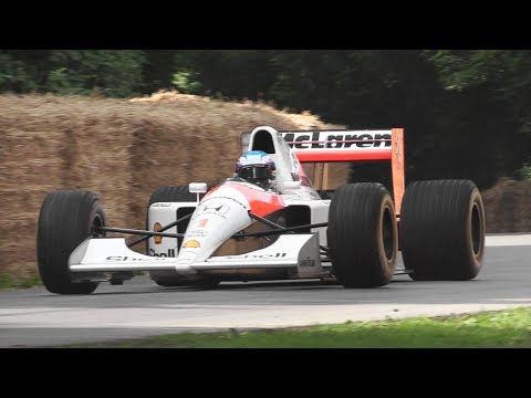 1991 McLaren MP4/6 F1 Sound - Honda 3.5 V12 Engine Screams at Goodwood