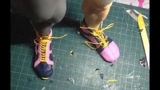 How to sculpt Bruce Lee : Part 107 Shoe making process