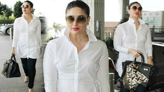Kareena Kapoor Hot In Collar Pop Style At Airport