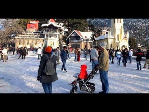 THE RIDGE-SHIMLA- AFTER THE SNOWFALL-AMAZING VIDEO.