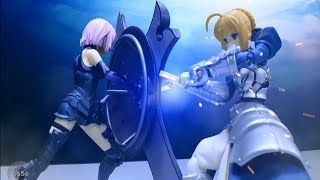 Figma Fate GO Stop motion - Saber VS Mashu