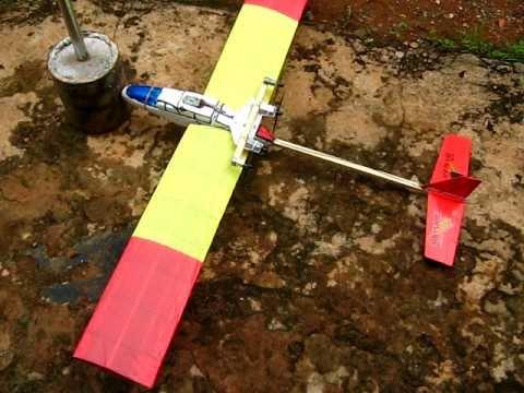 Aeromodelo Planador caseiro Flying Fox
