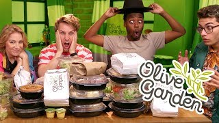 27,000+ CALORIE OLIVE GARDEN MUKBANG (Squad Vlogs)