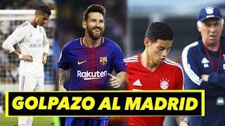 Golpe al Madrid que festeja el Barca | ¿Ancelotti cobra con James?