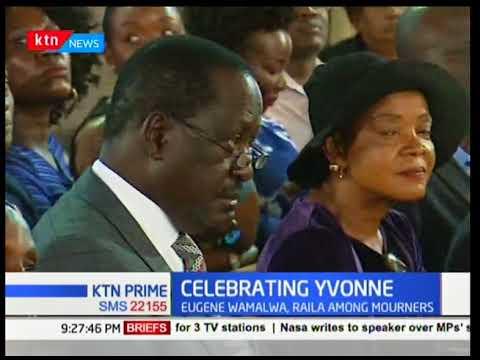 NASA leader Raila Odinga joins cabinet secretaries at the late Yvonne Wamalwa s requiem mass