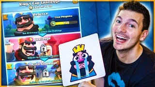 HOW TO WIN THE KINGS CUP CHALLENGE - Clash Royale Update!