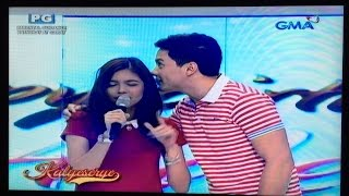 Maine sings The Closer I Get To You on Alden's Birthday Eat Bulaga - Kalyeserye January 2, 2016