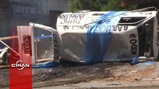 Nurtepe savaş alanına döndü: Araçlar yakıldı, işyerleri taşlandı, yaralılar var