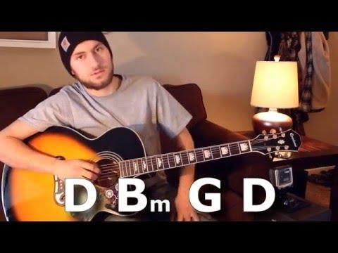 Die a Happy Man - Thomas Rhett - Guitar Lesson - Beginner  Intermediate - Verse  Chorus