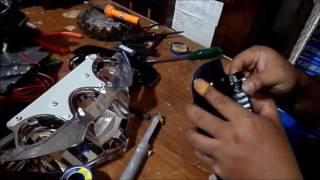 cara pasang led lampu depan nmax