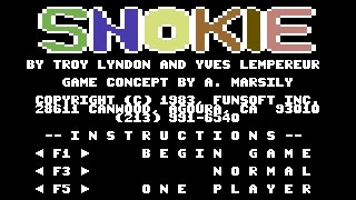 Snokie Review for the Commodore 64 by John Gage