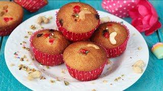 ফ্রুটস কাপ কেক (চুলায় ও ওভেনে তৈরি) || Fruits Cup Cake Recipe Bangla || Chulay Toiri Cake
