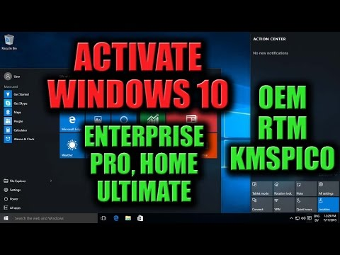 How to activate Windows 10 Pro/Enterprise/Home/Ultimate OEM RTM using KMSpico 10 Activator for Free