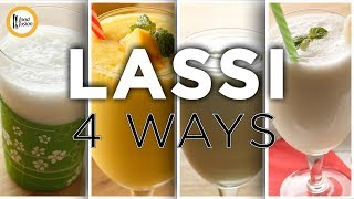 Lassi 4 ways Recipes by Food Fusion