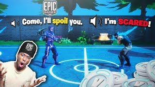 7 year old kid wins a Fortnite Shopping Spree if we win this game... GREATEST REACTION EVER!