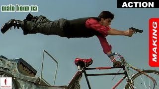 Main Hoon Na | Making of Action | Shah Rukh Khan, Sushmita Sen | A Film By Farah Khan