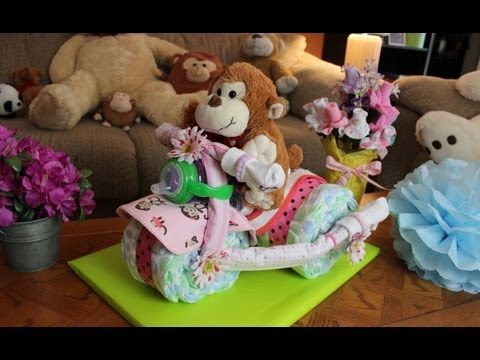 Tricycle Diaper Cake How to make